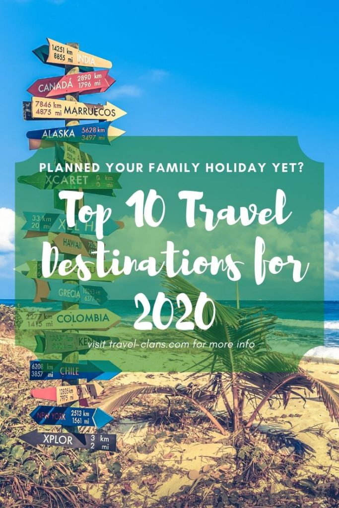 Top 10 Travel Destinations for 2020 #travelclans #Top10 #TravelDestinations