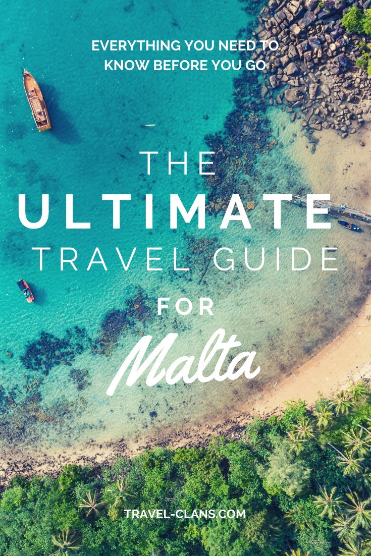 Find out everything you need to know before you visit Malta with The Ultimate Travel Guide For Malta #travelclans #malta #TravelGuide