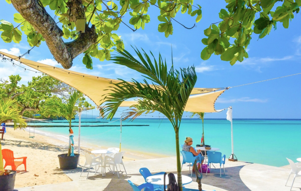 One of the best private beaches in Ocho Rios is accessible at Kaz Kreol Beach Lodge & Wellness Retreat #travelthings #hotelreviews #Jamaica