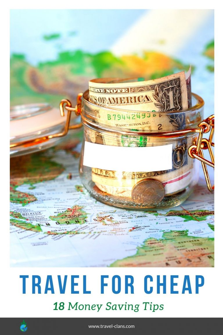 Learn how to travel on a budget with these 18 money saving tips #travelclans #travelforcheap #budgettravel #traveltips #cheaptravel #budget